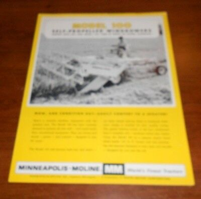 minneapolis moline model 100 self propelled windrower brochure 1466