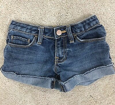 Girl's Gap Kids 1969 Jean Shorts Rolled Size 7 Adjustable waist