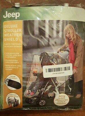 Jeep Deluxe Stroller Weather Shield Open Package Never Used