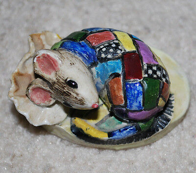 "Mac B England Berkeley Square Christmas Mouse Handmade Handpainted 1"" HTF"