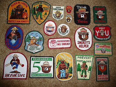 20 Different Smokey Bear Patches Forest Service Fire USFS Forestry