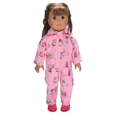 Pajamas PJS Nightgown Clothes for 18in. Our Generation American Girl Doll #J
