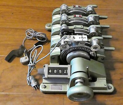 Moviola 4-Gang Synchronizer for 16mm Film - Model SZD With Mag Heads - Excellent