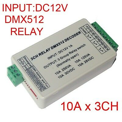 3CH DMX512 relay switch 3CH LED lighting Decoder switch LAMP Controller