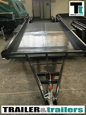 """Car Carrier Trailer Tandem 14x6'6""""  Includes Ramps *NEW TYRES*"""