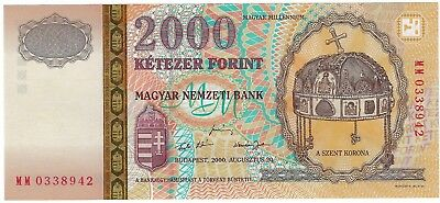 Hungary, 2000 2,000 Forint P186  Gem UNC ((Millennium Commemorative))