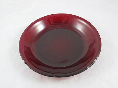 "Vintage 7"" Salad Bowl Anchor Hocking Ruby Red Cranberry Depression Glass"