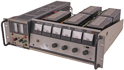 Kepco JQE 6V/10A Voltage Stabilizer + 5x PAT 100-0.2 Power Supply w/RA-24 Mount