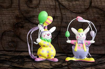 2 Vintage Avon Easter Ornaments