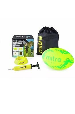 MITRE RUGBY STARTER SET PRACTICE & IMPROVE YOUR GAME with SIZE 5 BALL  *NEW*