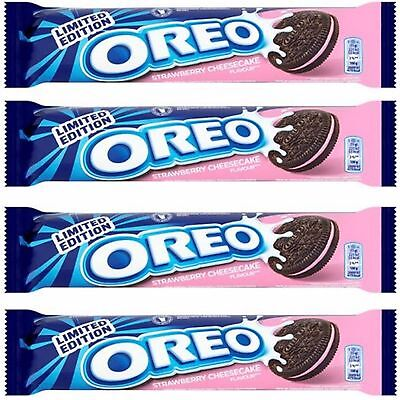 Oreo Strawberry Cheesecake Cocoa Flavoured Sandwich Biscuits 30 x 154g