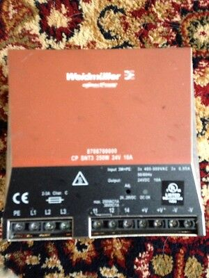 Weidmüller 8708700000 Power Supply CP SNT3 , AC/DC CONVERTER 24V 250W