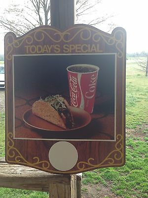 Coke-cola 20x18 double sided cardboard advertising sign