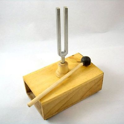 256/440/512Hz Tuning fork Resonant Diapason With Wooden Acoustic Box