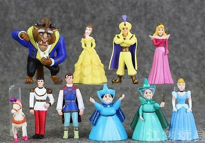 10 Styles/Set Hot Disney Beauty and the beast Belle Prince Gaston PVC Toys Dolls