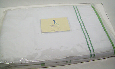 Pottery Barn Kids Green Pique Toddler Baby Quilt New