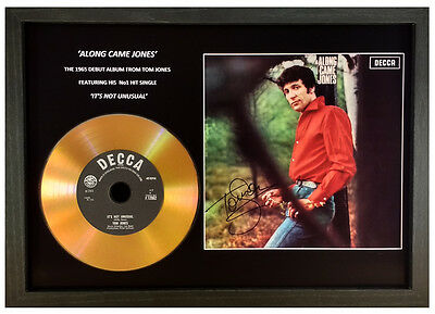 Tom Jones 'it's Not Unusual / Along Came Jones' Signed Gold Disc Display