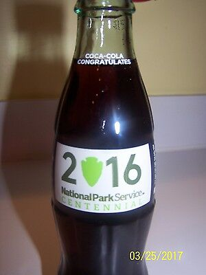 National Park Service Centennial 2016 Coca Cola Bottle