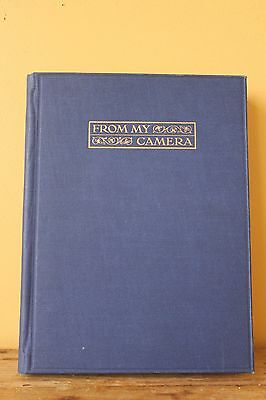 Original Vintage  Photo Album, Empty.Dark Blue Cloth Bound with Gold.