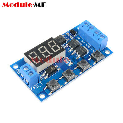 12-24V Trigger Cycle Timer Delay Switch Circuit Board MOS Tube Control Module UK