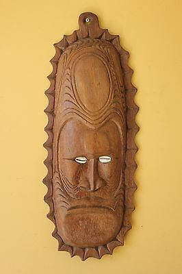 Vintage Pacific Island Tribal Carved mask .