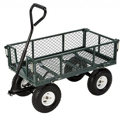New Utility Wagon Dump 400 LB Capacity Lawn Garden Cart Cart Wheelbarrow Trailer
