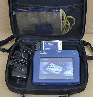 Fluke Networks EtherScope Series II Cable Tester w/ LAN WLAN Options