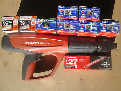 HILTI DX460 powder actuated nail gun with new accessories