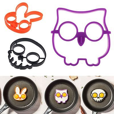 Breakfast Fried Egg Mold Silicone Pancake Egg Ring Shape Funny Cooking Tools