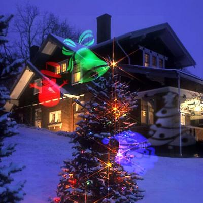 Outdoor LED Christmas 21 Color Projection Lamp L aser Motion Rotating Spotlight