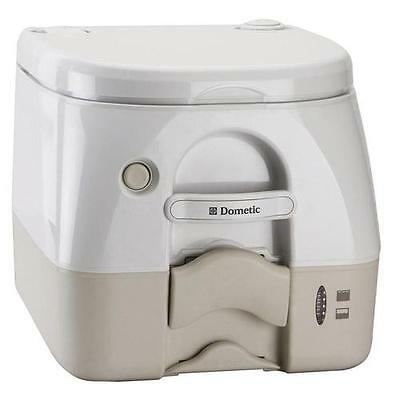 Dometic Tan w/Brackets Portable Toilet 2.6 Gallon - Tank Level Indicator