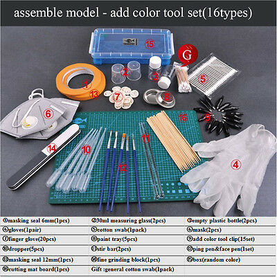 Trumpeter Assembly Model Support Instrument Add-color Tools(16 type as picture)