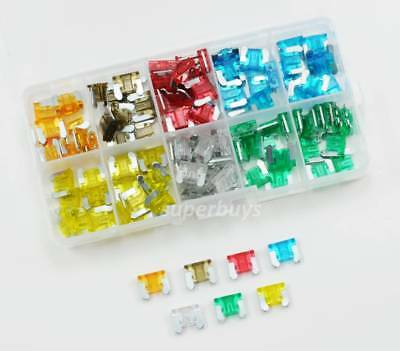1 or 120pc 5-30A Micro Mini Blade Fuse Car Auto Vehicle Low Profile Kit Set