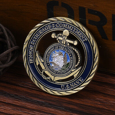U.S. Navy Honor Courage Commitment Anchors Commemorative Art Coin New