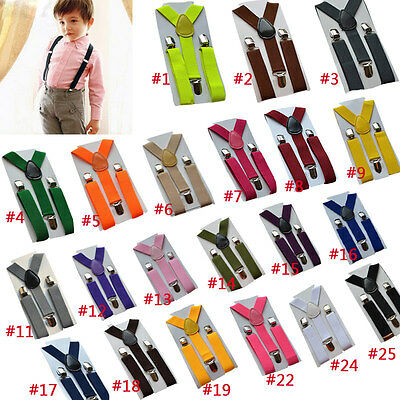 2.5cm Boy Girls Clip-on Elastic Braces Kids Baby Suspenders Accessories New