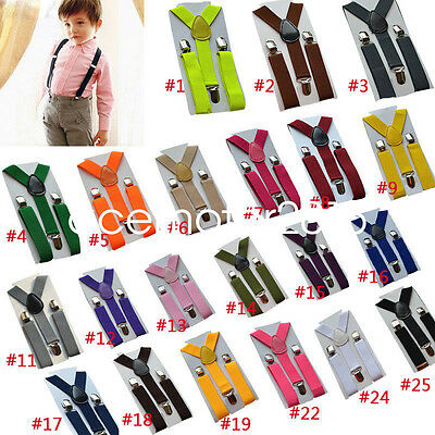 2.5cm Boy Girls Clip-on Elastic Braces Kids Children Baby Suspenders Accessories