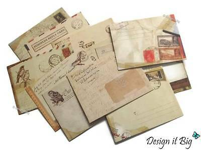 12 Pack of Small Envelopes Vintage Retro European Style for Mini Cards