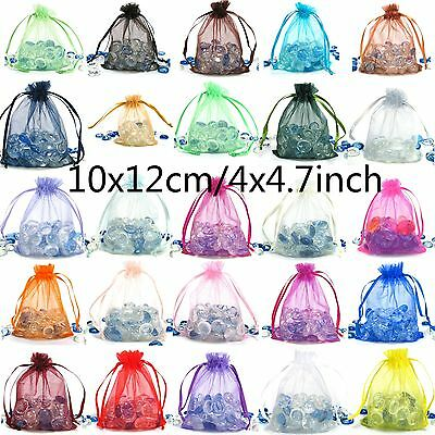 "1000x Random Color Organza Packaging Pouches Jewellery Favour Gift Bag 4""x4.7"""