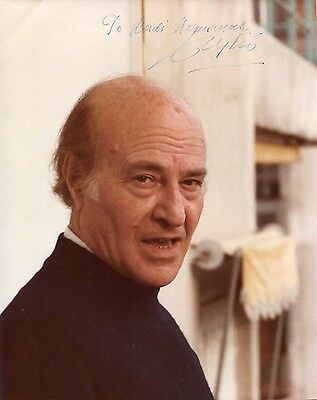 Odysseas Elytis NOBEL PRIZE IN LITERATURE autograph, signed photo