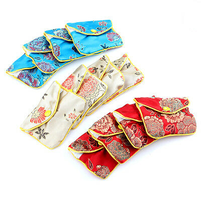 Lot 12x Jewellery Jewelry Silk Purse Pouch Gift Bags Bag for Coins and Beads HOT