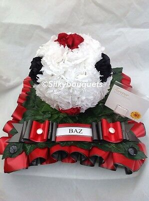 Artificial Silk Funeral Flower Football Wreath Tribute Memorial Any Team False