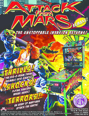 Attack From Mars Pinball New Genuine Flyer : MR PINBALL