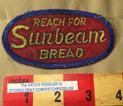 Vintage Bakers Advertising Patch ~ Sunbeam Bread ~ Reach For ~ 61C9