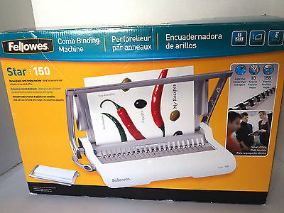 Fellows Star 150 Manual Comb Binding Machine - CombBind - Excellent Condition