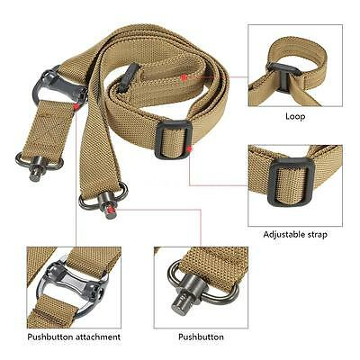Military Tactical Safety Two Points Belt QD Series Sling Adjustable Strap U4Q3