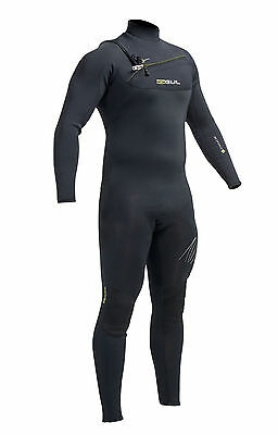 2017 Gul Response Chest Zip 3 X 2 Steamer Wetsuit Black