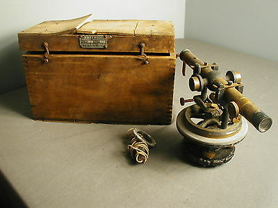 vintage bostrom brady mfg co surveying instrument w separate weight box tf. Black Bedroom Furniture Sets. Home Design Ideas