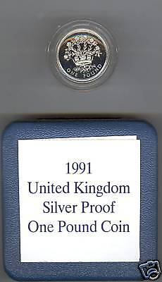 1991 Boxed Standard Proof Silver £1 Northern Ireland
