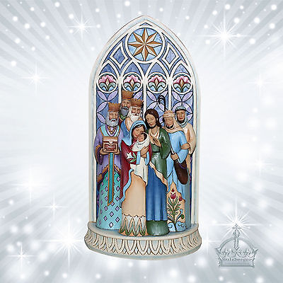 Grippe Jim Shore Weihnacht Cathedral Window Nativity Enesco Fenster 4049400