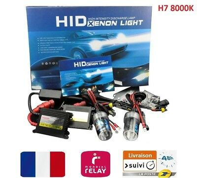 Kit Hid H7 8000K 55W Conversion Xenon Slim Ballast Ampoules Bulbs Garanti Neuf !